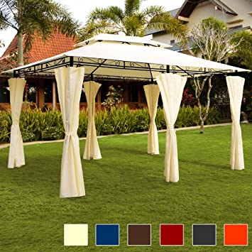 Amazonde Deuba Pavillon Topas 3x4m Seitenwände Eckig Festzelt