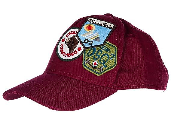 Dsquared2 chapeau homme réglable en coton gabardine bordeaux  Amazon ... 62fdcef23870
