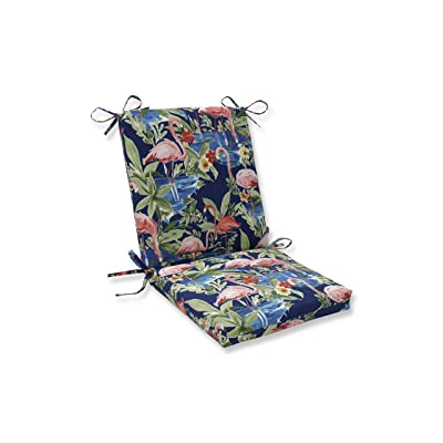 """Pillow Perfect Outdoor/Indoor Flamingoing Lagoon Square Corner Chair Cushion, 36.5"""" x 18"""", Blue: Home & Kitchen"""