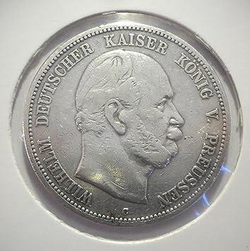 Orig Silbermünze 5 Mark 1876 C Preußen Wilhelm I Jäger Nr 97