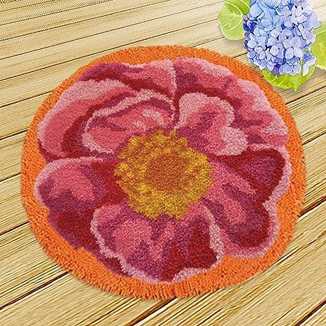 Kit de ganchillo para bricolaje, alfombra, cojín, bordado ...