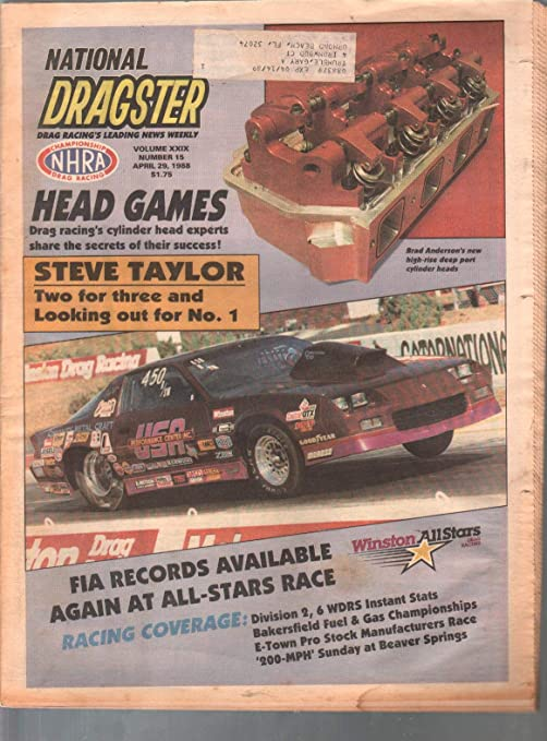 National Dragster-NHRA 4/29/1988-Southern National Pro Results-Steve