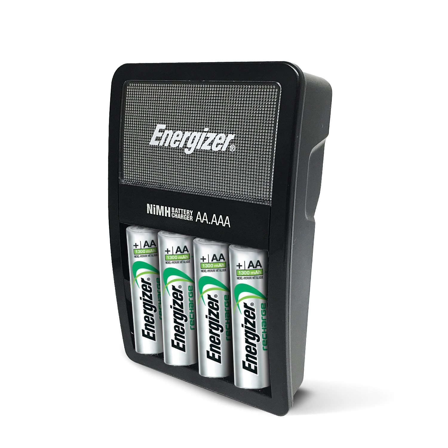 Energizer Rechargeable AA and AAA Battery Charger (Recharge Value) with 4  AA NiMH