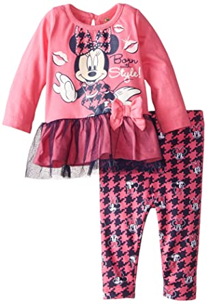 53dbcef0d6dfe Amazon.com: Disney Baby Girls' Minnie Mouse Legging Set with Tulle,  Glasses: Clothing