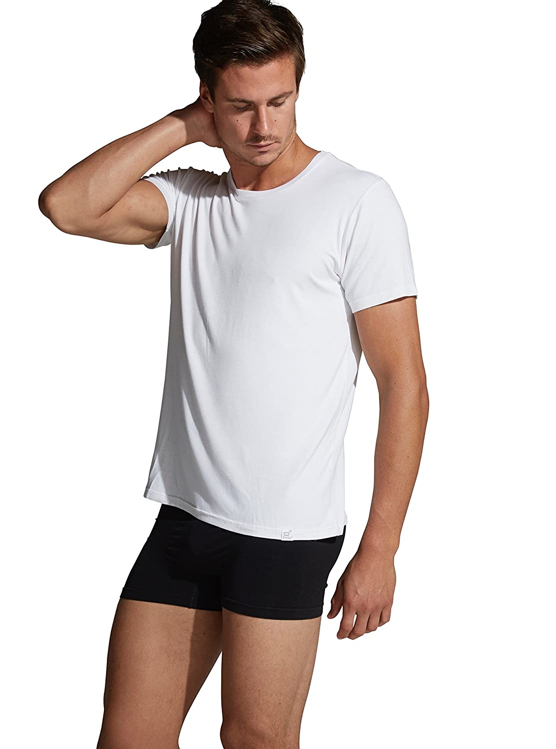 Boody Body EcoWear Mens Crew Neck T-Shirt - Cooling Athletic Short Sleeve Tee