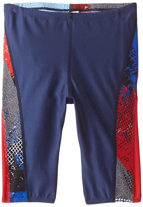 0b5f24a8f4 Buy Speedo Big Boys' Boy's How It's Done Jammer Swimsuit, Navy/Red/White,  22 Online at Low Prices in India - Amazon.in