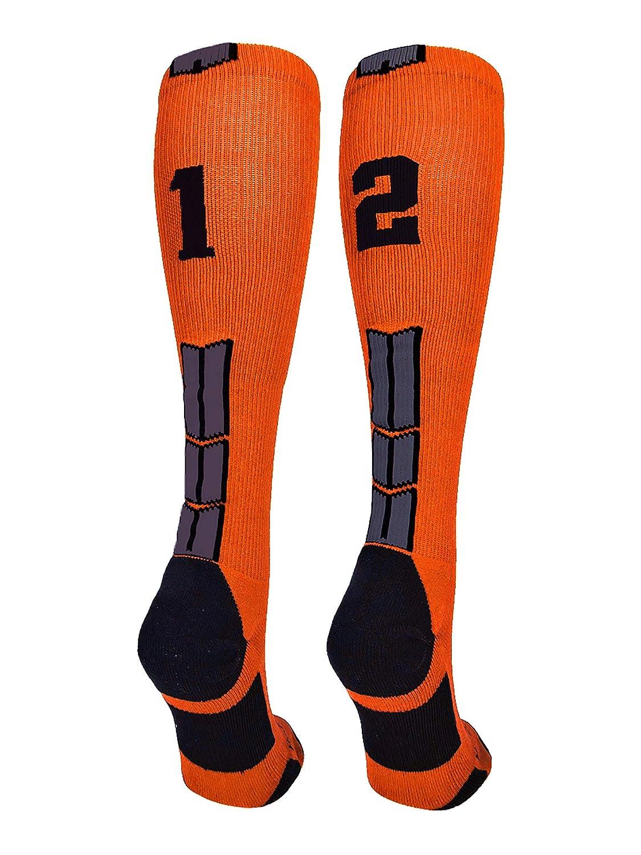 MadSportsStuffオレンジ/ブラックPlayer IDカスタムover Medium #12 the the calf Medium Socks数(ペア) B07G55B7YN Medium #12 #12 Medium, アリダグン:85cb4ca9 --- kutter.pl