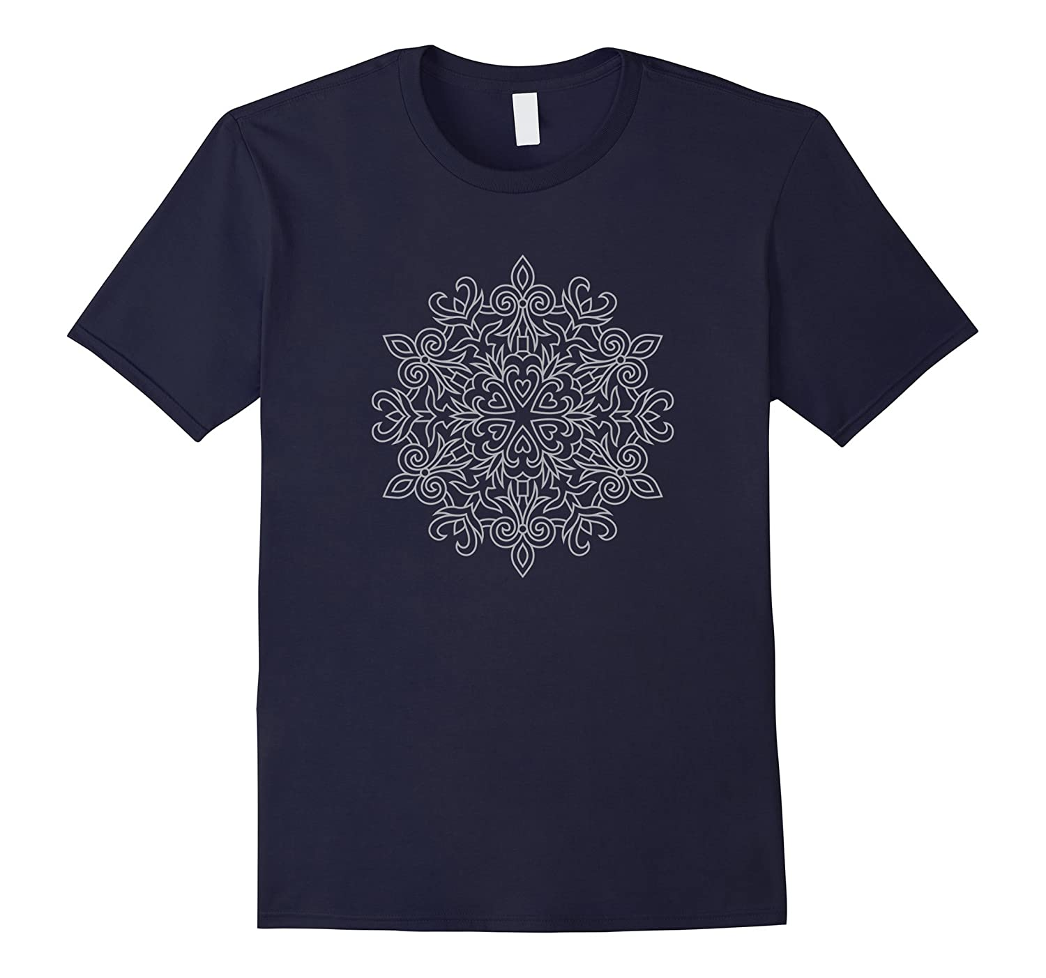 Mandala Heart Circle Shirt-TD