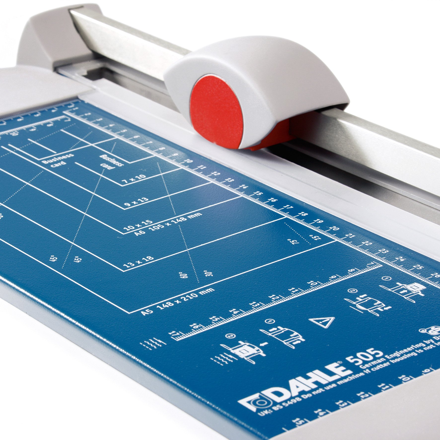 Dahle A4 Personal Trimmer Cutting Units for Different Cut Shapes 320mm Cutting Length/ 0.6mm Cutting Capacity - Blue