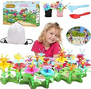 Tuptoel Girls Sand Toys Age 3 4 5 6 7+, Flower Garden Building Toy Girls Preschool DIY Crafts for Girls
