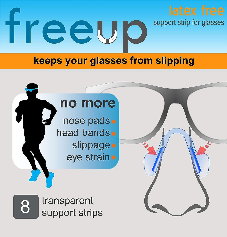 Amazon.com: freeup, temporal franja de apoyo para anteojos ...