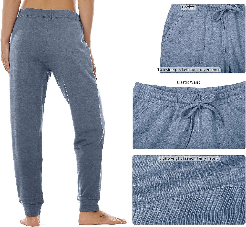 Taille /Élastique de D/écontract/é athl/étique Style surv/êtement avec Poche icyzone Femme D/écontract/é Pantalon de Sport