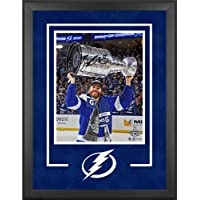 """Brayden Point Tampa Bay Lightning 2021 Stanley Cup Champions Deluxe Framed Autographed 16"""" x 20"""" Raising Cup… photo"""