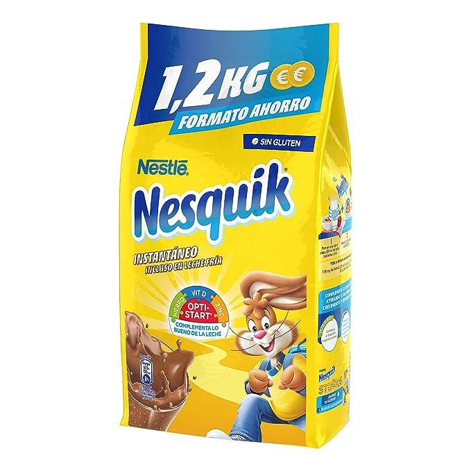 Nestlé Nesquik Cacao Soluble Instantáneo - Bolsa de cacao soluble 10x1,2 kg: Amazon.es: Alimentación y bebidas