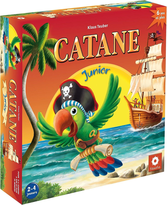 FILOSOFIA Catane: Junior Niños Estrategia - Juego de Tablero (Estrategia, Niños, 30 min, Niño/niña, 6 año(s), 119 Pieza(s)): Amazon.es: Juguetes y juegos