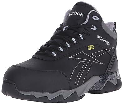a387424c7e3 Reebok Men s Met Guard Waterproof Athletic Hiker Boot Composite Toe Black  ...
