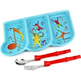 KidsFunwares Me Time Musical Dinnerware Meal Set, One Size, Green