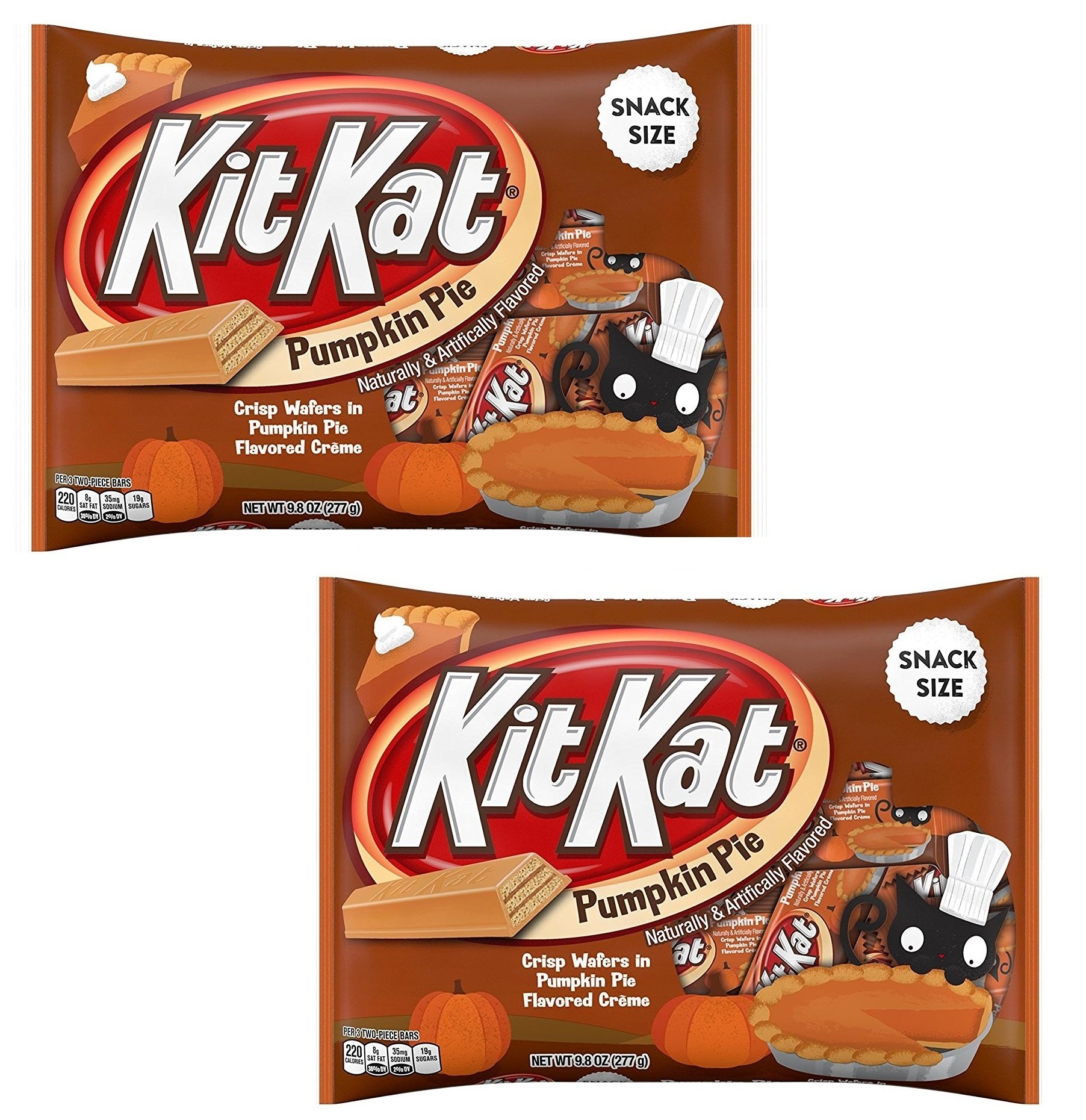KitKat Pumpkin Pie Snack Size Crisp Wafers 9.8oz (Pack of 2) by Kit Kat