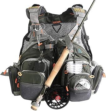 Maxcatch [Holiday Venta] Volar Pesca Chaleco Pack Bolsa de Bandolera (– Chaleco de Pesca/Pesca/Pesca Mochila), Vest (Vest Style): Amazon.es: Deportes y aire libre
