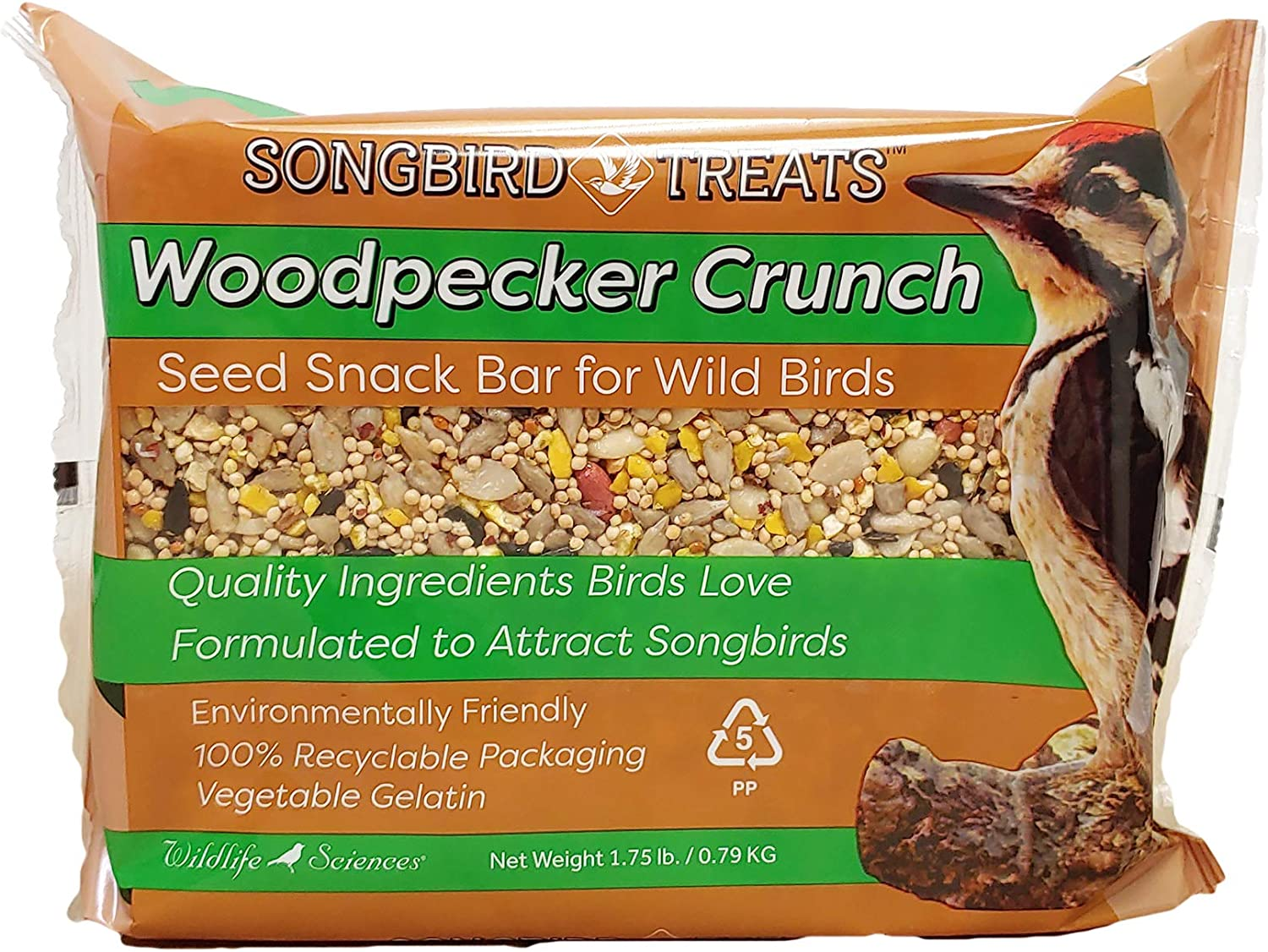 Songbird Treats Seed Cakes Large Seed Bars   1.5-2 lb Large Bird Seed Cakes for Wild Birds