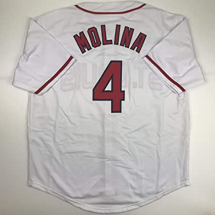 193a7262a Unsigned Yadier Molina St. Louis White Custom Stitched Baseball Jersey Size  Men s XL New No