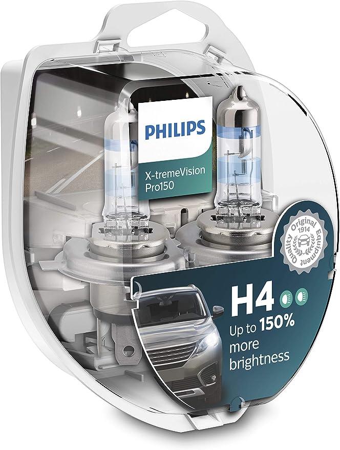 Philips X Tremevision Pro150 H4 Scheinwerferlampe 150 Doppelset Auto