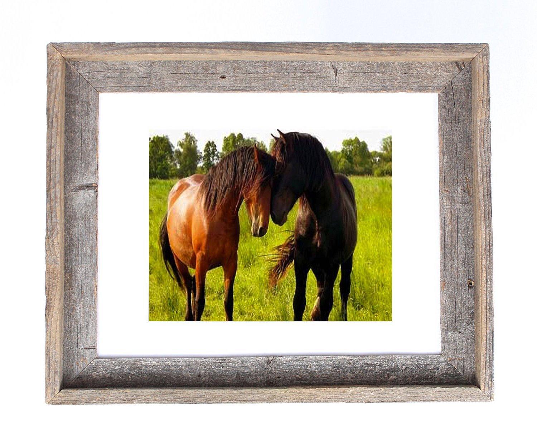 barnwoodusa Signature Bild Rahmen mit Matte, holz, weiß, 8x10 ...