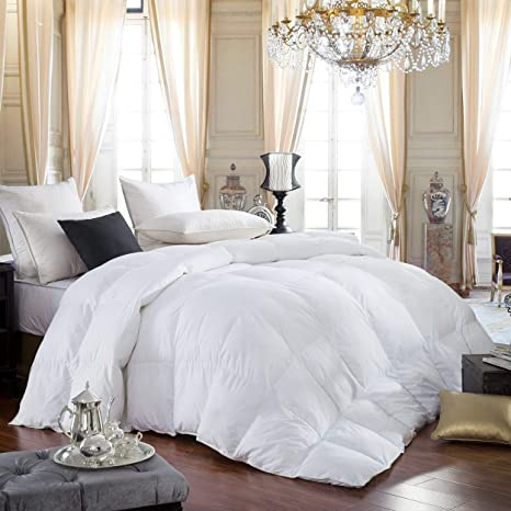 egyptian bedding 600 thread count egyptian cotton siberian goose down comforter 70 oz fill weight hypoallergenic solid white king size