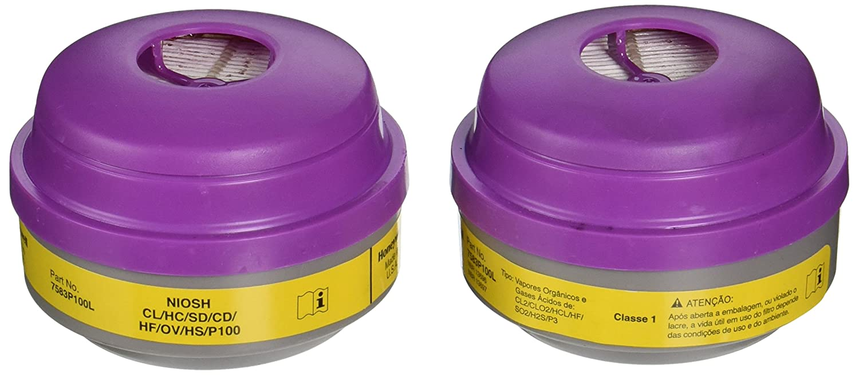 North 7583P100 Combination Filter P100/Organic Vapor/Acid Sas North Safety Products