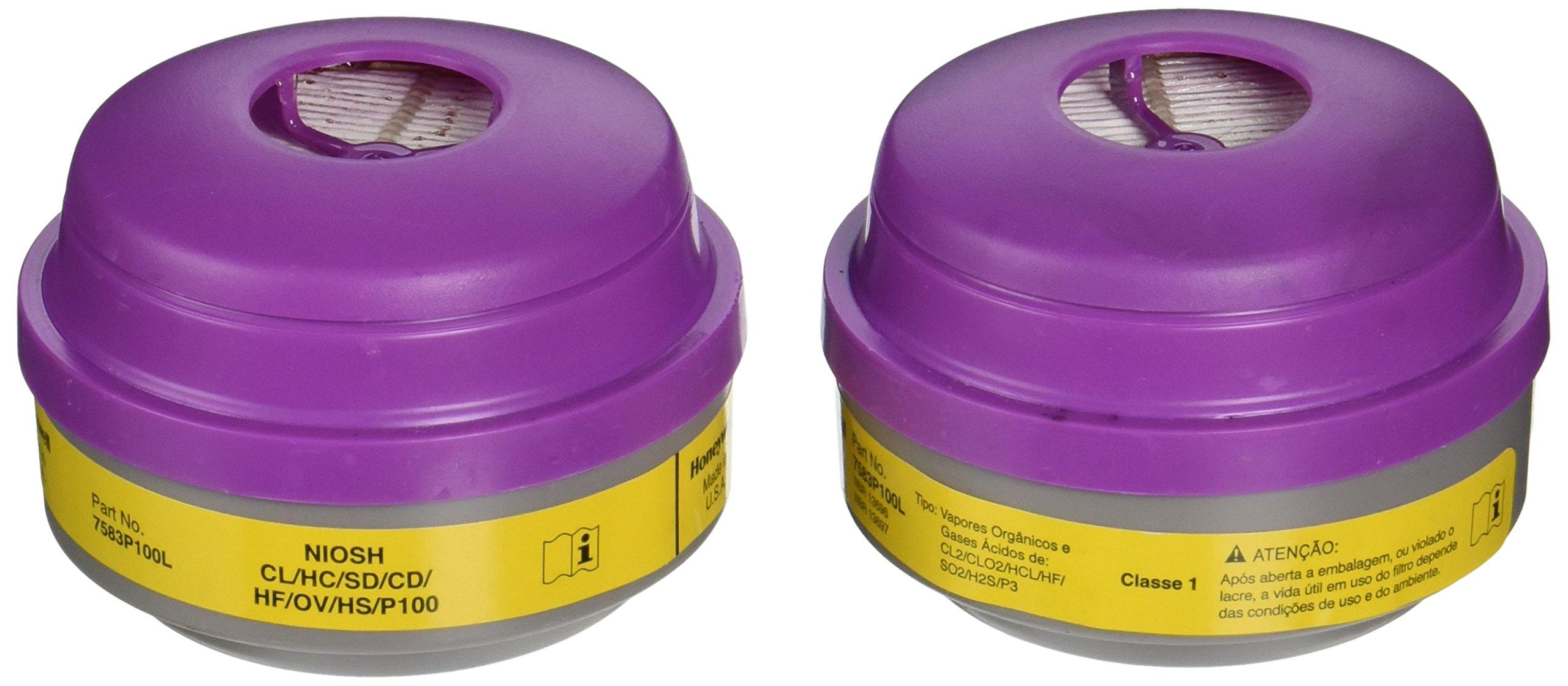 North 7583P100 Combination Filter P100/Organic Vapor/Acid Sas by North Safety (Image #1)