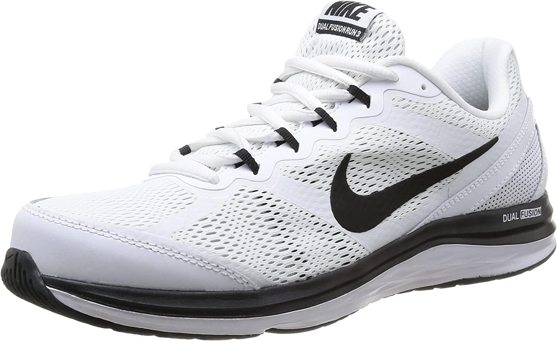 Imbécil coreano césped  Amazon.com   Nike Men's Dual Fusion Run 3 White/Black/Wolf Grey Running Shoe  13 Men US   Road Running