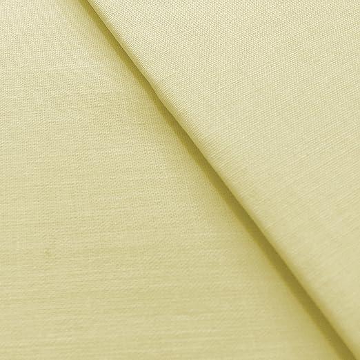 Crema 94 cm de ancho de primera calidad poliéster y algodón 68 láminas de Pick tela