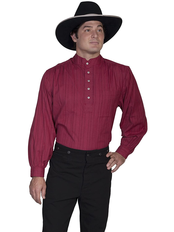Scully Lightweight Pullover Shirt Burgundy