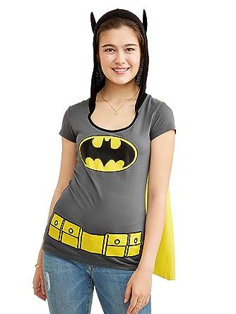 79ef8a7c Amazon.com: DC Comics Juniors Batman Batgirl Hooded Costume T-Shirt ...
