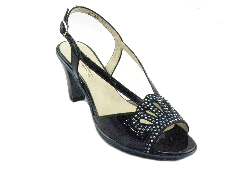 Melluso Sandalo Elegante Comodo Donna R50122 Notte E0274 Blu