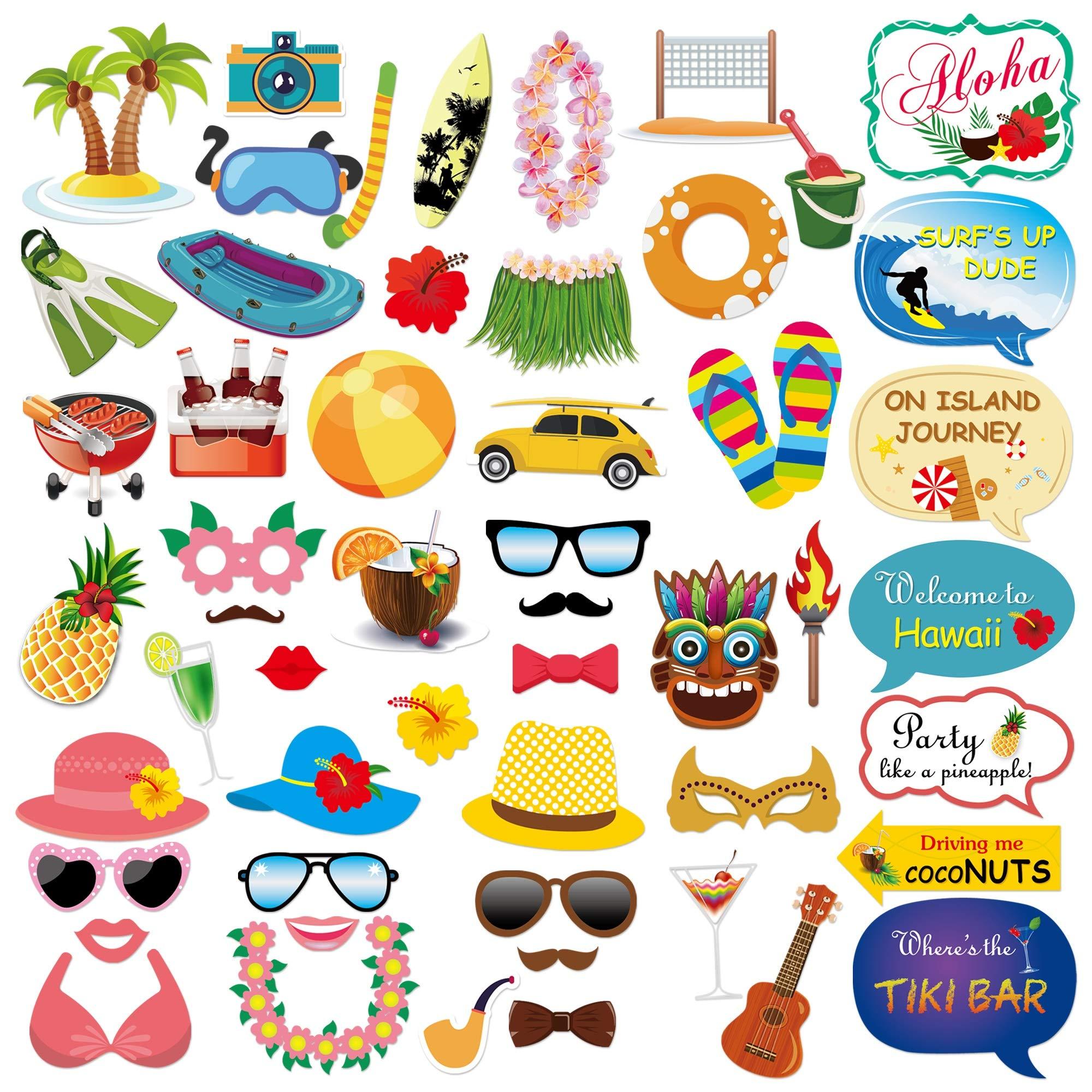 Adult Cocktail Wine Glasses Summer Holidays Hawaiian Beach Party Sunglasses