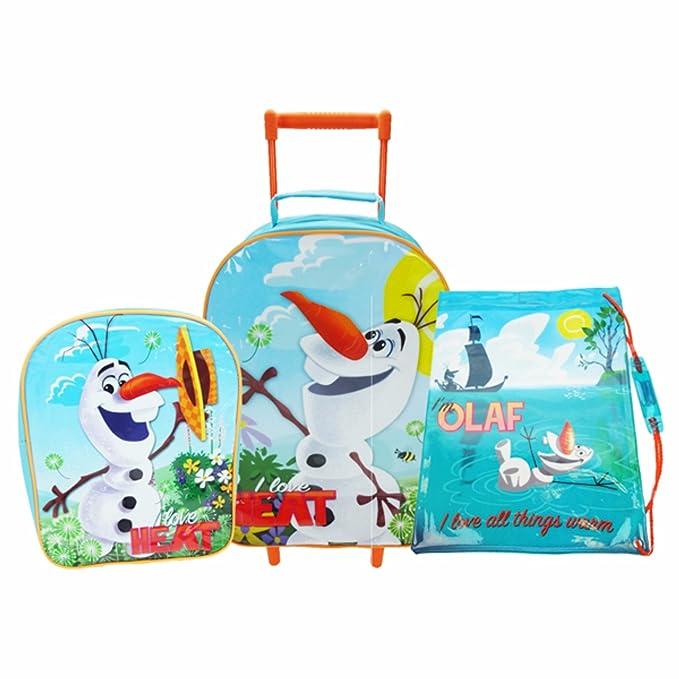 Disney Frozen Official - Juego de maletas de viaje con Olaf para niños/as (