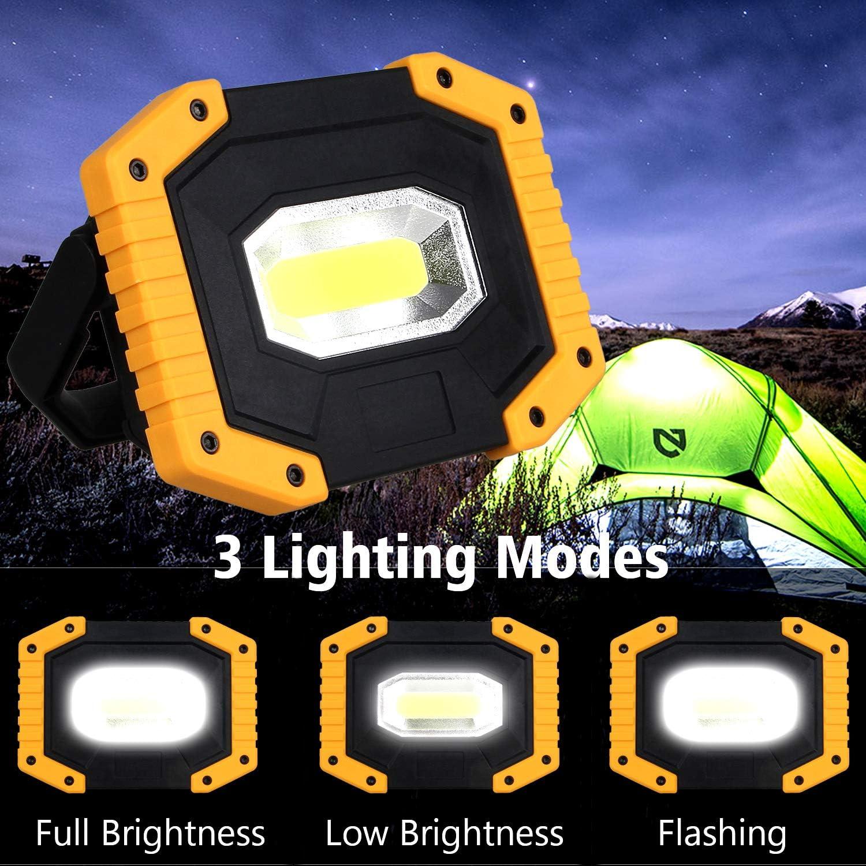 T-SUN 2000LM Lampada da Lavoro a LED Ricaricabile a Tenuta stagna Impermeabile Pack of 2 Lampada LED Esterni 30W 3 modalit/à Regolabili.