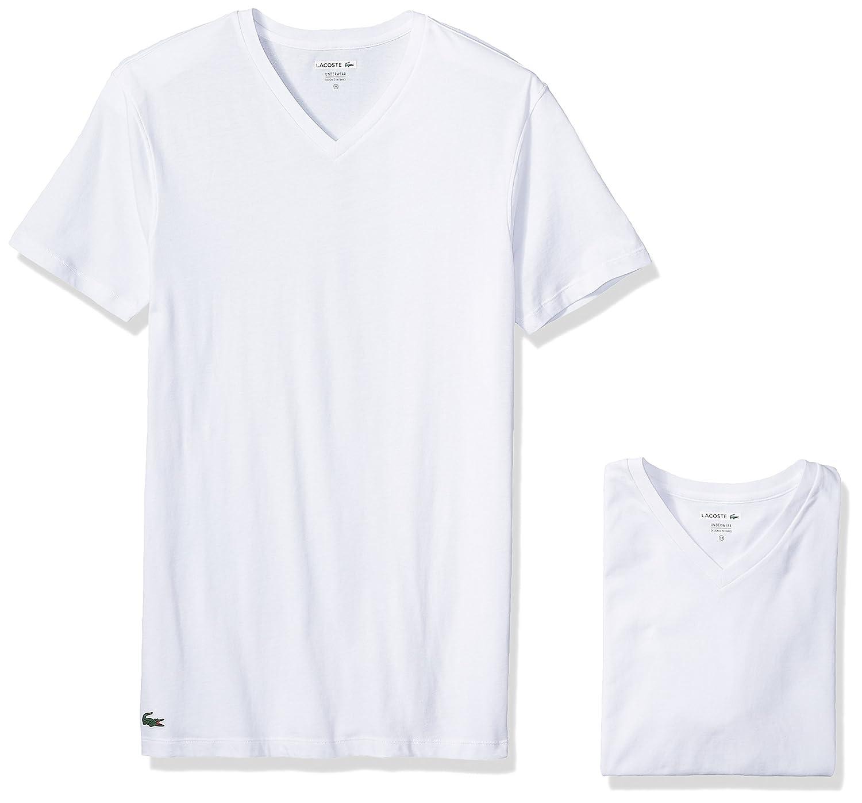 0415b1e0eafc Lacoste Men s Classic Fit Cotton V Neck Tee
