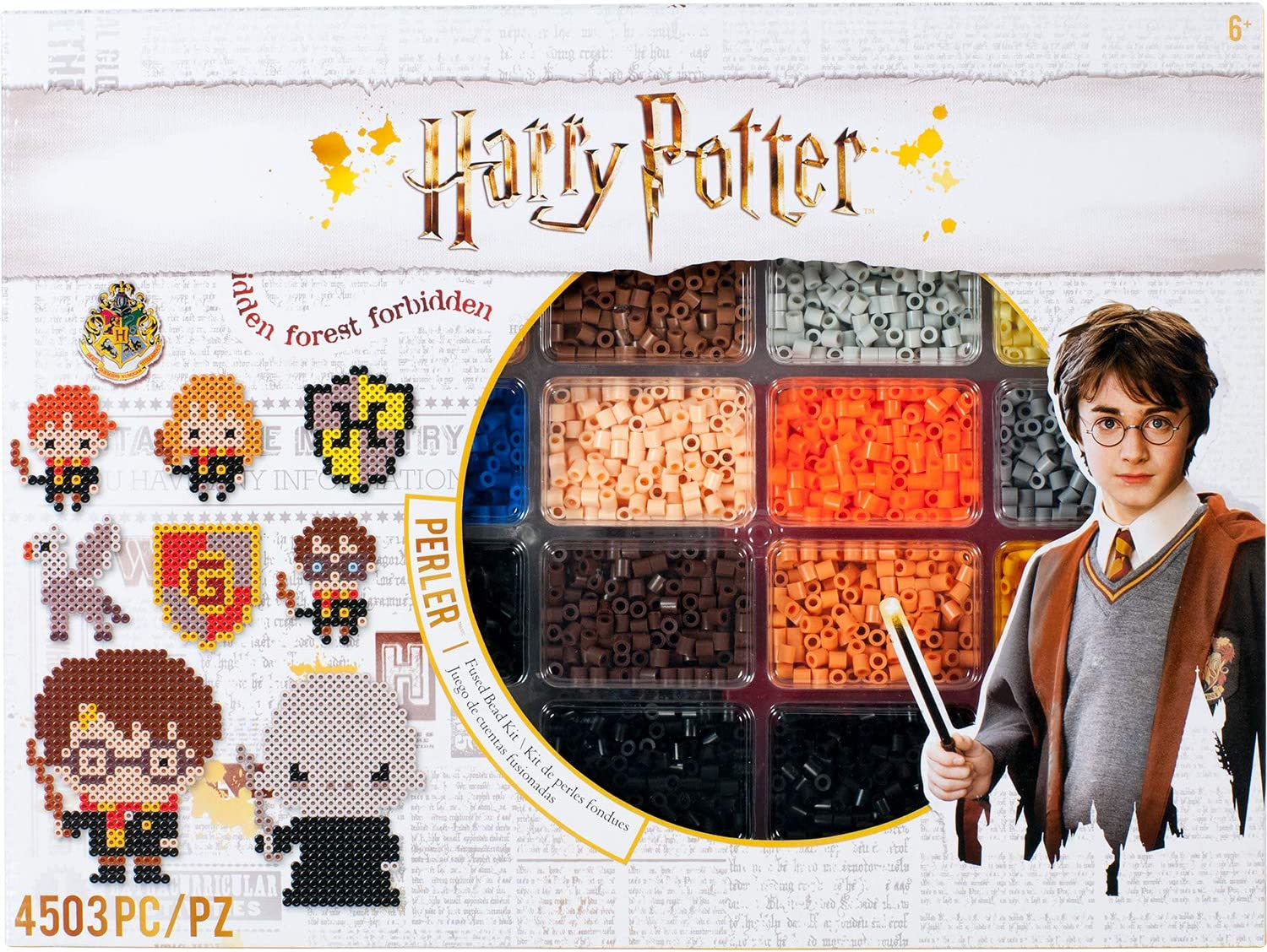 Amazon Com Perler Harry Potter Fuse Bead Kit 4503pc 19 Patterns Multicolor Toys Games