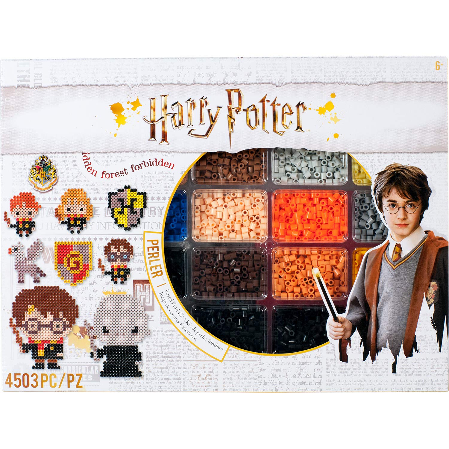 Perler 80-54345 Harry Potter Fuse Bead Kit, 4503pc, 19 Patterns, Multicolor by Perler