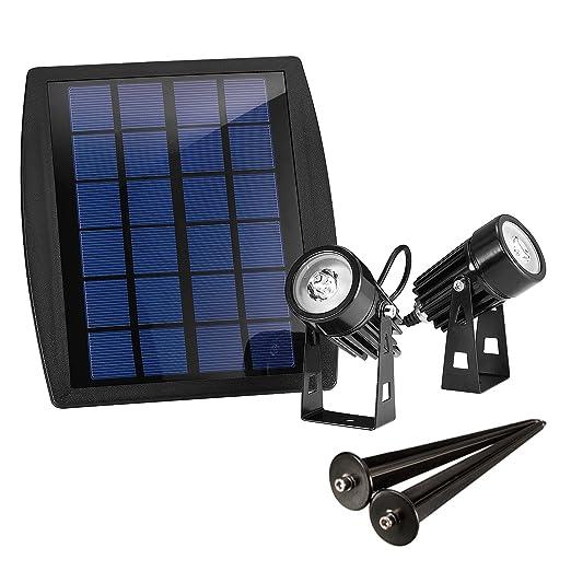 10 opinioni per Liqoo 2 x Luci Solari Illuminazione Giardino Lampade da Terra Esterno Lampioni
