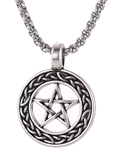 TEAMER - Collar con Colgante de Amuleto de Estrella de David ...