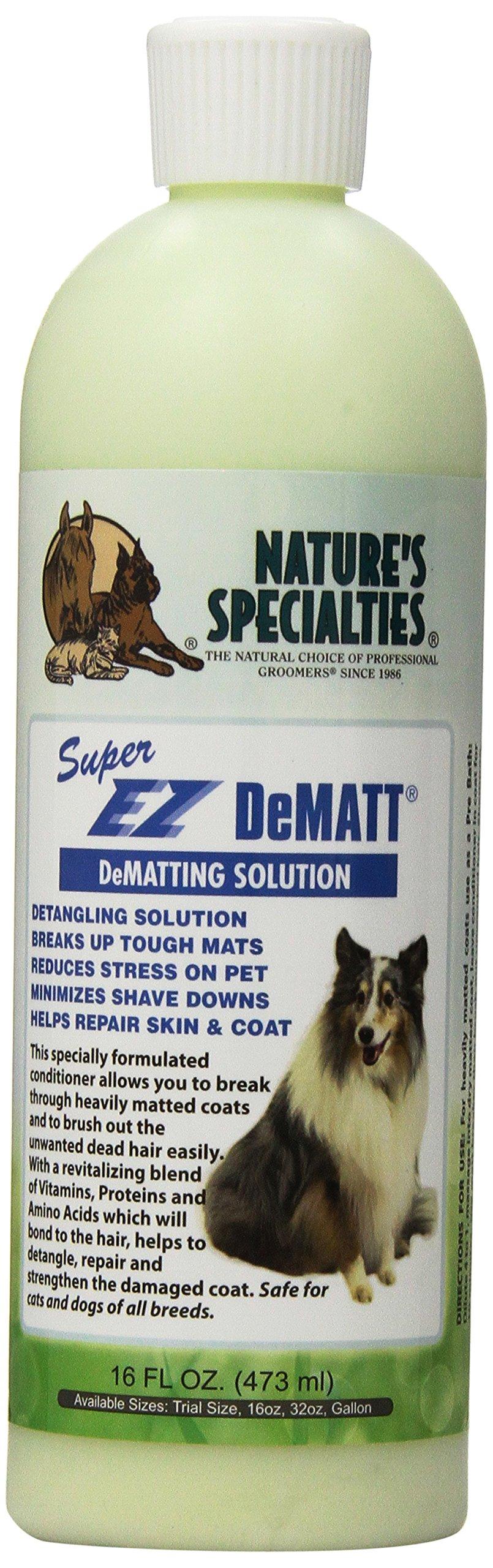 Nature's Specialties Super EZ Dematt Pet Conditioner, 16-Ounce