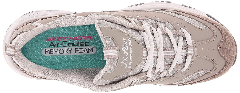 Skechers Damen Chunky D'Lites Biggest Fan Plateau Chunky Damen Sneakers Zum Schnüren mit Integriertem 3cm Hohen Absatz Taupe 416cb7