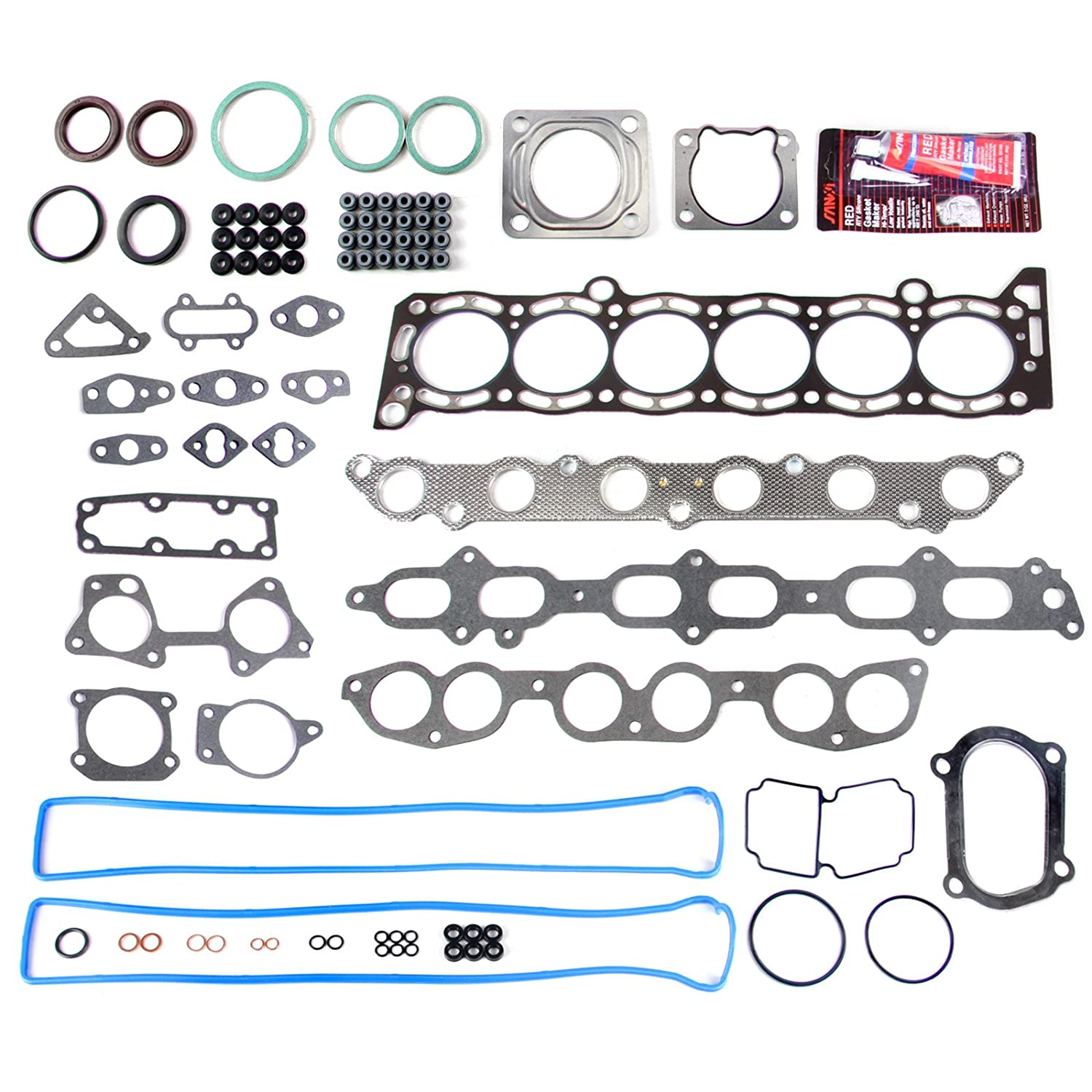 ECCPP Compatible fit for Head Gasket Set for 1986-1992 Toyota Supra 3.0L l6 DOHC 7MGE 7MGTE Automotive Replacement Engine Head Gaskets Kit 058178-5211-1744011