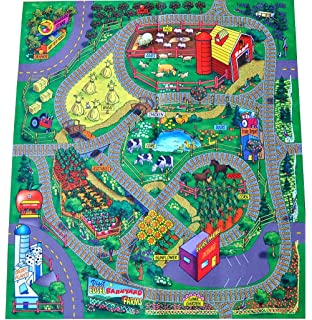 Silli Me: Farm Felt Play Mat With Train Track Design