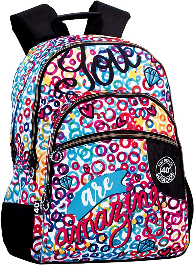 Montichelvo Double Backpack A.O. Cg Amazing School Bag, 30 cm, Multicolour,Montichelvo,Montichelvo_55999