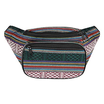 c0005224f210 Amazon.com | HDE Boho Fanny Pack Aztec Striped Waist Pack Tribal Bum ...
