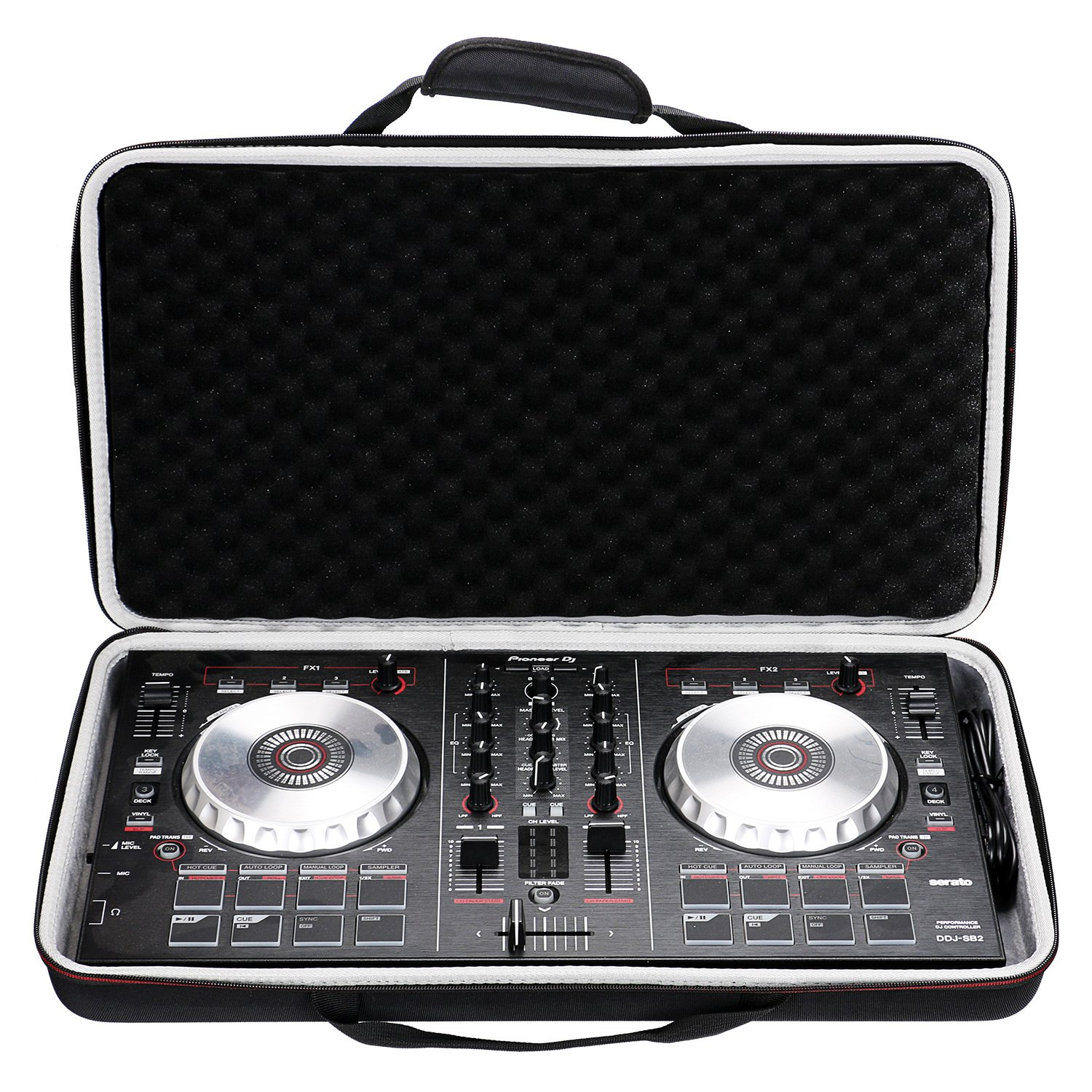 LTGEM Case for Pioneer DJ DDJ-SB3 / DDJ-SB2 Portable 2-channel Controller or DDJ-SB Performance DJ Controller-Black US083